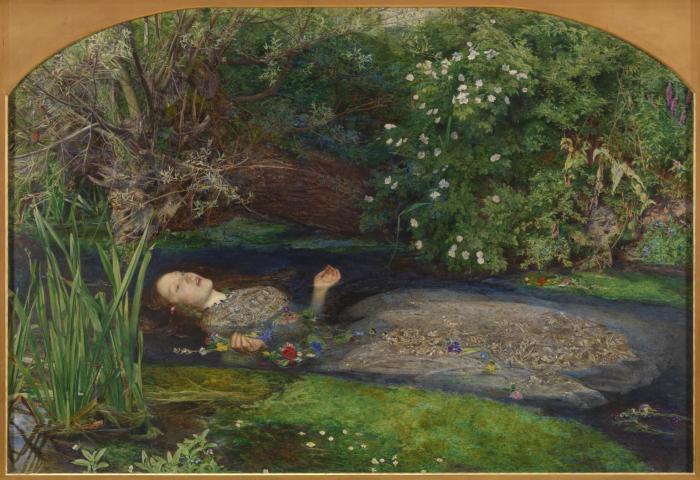 Ophelia 1851-2 by Sir John Everett Millais, Bt 1829-1896